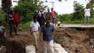 Jalan Terban di Cacang Randah Sudah Bisa Dilewati Kendaraan Roda Dua