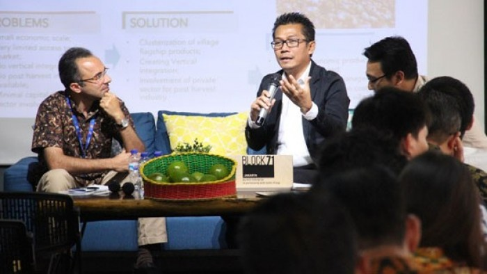 Direktur Jenderal Pembangunan Daerah Tertinggal (Ditjen PDT), Kementerian Desa, Pembangunan Daerah Tertinggal, dan Transmigrasi (Kemendes PDTT), Samsul Widodo menjadi keynote speaker dalam acara Deep Dive Series Agritech yang diselenggarakan oleh BLOCK71 Jakarta.