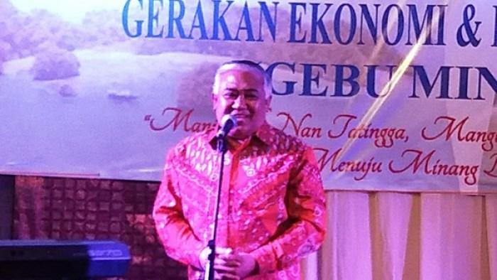 Din Syamsuddin beri sambutan dalam kegiatan Gebu Minang beberapa waktu lalu
