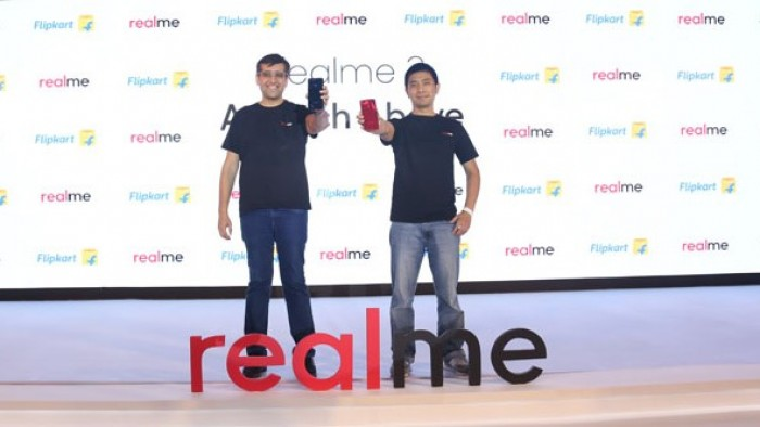 Realme India CEO, Madhav Sheth and Realme CPO, Levi Lee at the launch of 'a notch above' Realme 2
