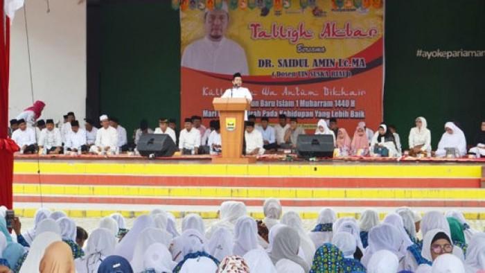 Dalam rangka memperingati tahun baru Islam 1 Muharam 1440 Hijriah, Pemerintah Kota Pariaman mengadakan acara tabligh akbar yang bertajuk