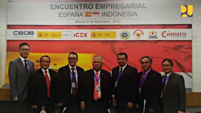 Menteri Pekerjaan Umum dan Perumahan Rakyat (PUPR) Basuki Hadimuljono berada di Madrid, Spanyol dalam rangka Business Indonesia Roundtable Meeting yang berlangsung Jumat, 21 September 2018.
