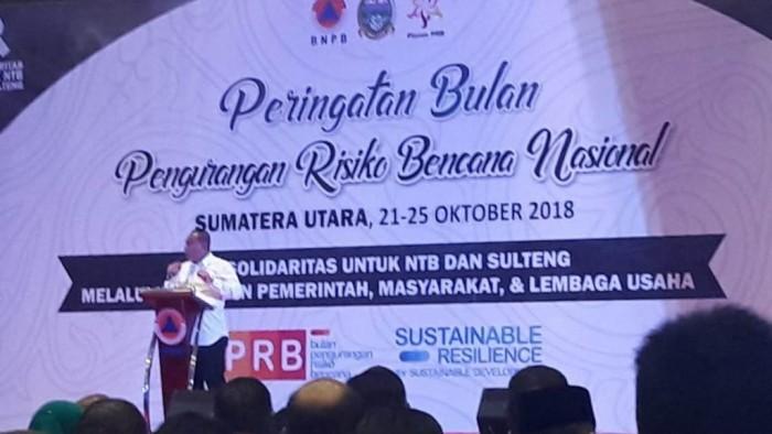 Peringatan Bulan Pengurangan Risiko Bencana Nasional tahun 2018 di Kota Medan, Minggu (21/10/2018) sampai Kamis  (25/10/2018).