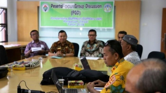 Kemendes PDTT  bekerja sama dengan LP2M UNP gelar Diskusi Terpumpun di Gedung Rektorat UNP pada Jumat (2/11/2018).