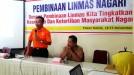 Linmas Koto Tangah Ikuti Pelatihan Kebencanaan