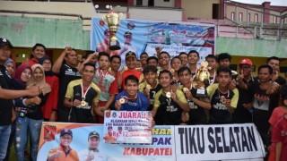Tiku Selatan Juara Liga Nagari 2018
